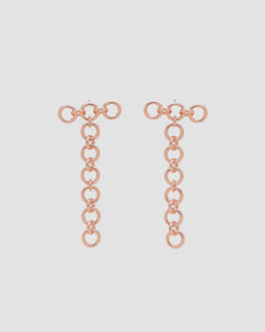 Stiff chain trio earring