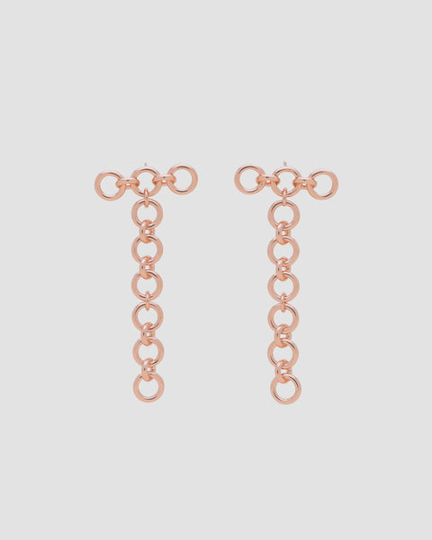 Load image into Gallery viewer, Stiff chain trio earring