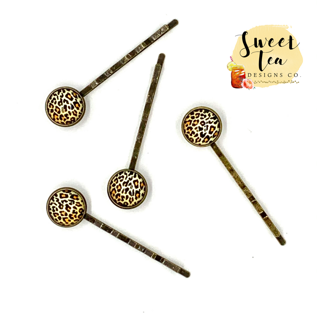 Leopard Hair Pins