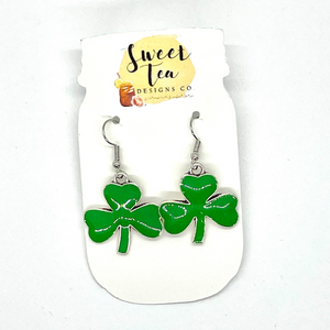 Metal Shamrock Dangle Earrings
