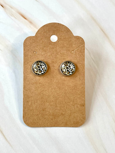 Small Leopard Stud Earrings