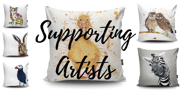 animal themed cushions designed by artists. vegan suede and super comfortable. soft furnishings to brighten up any room Personalised Gifts | Premium Stationary | Chic Homeware Accessories | Gift Ideas |  Homeware | New Baby Gifts | Wedding Gifts