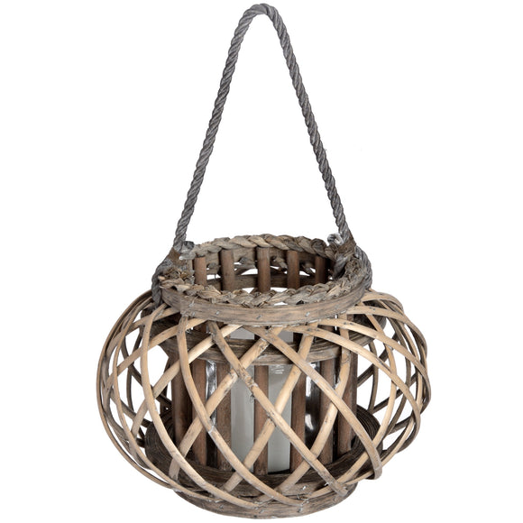 Large Wicker Basket Lantern-hill Interiors-Poppy Stop