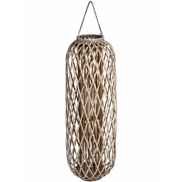 Huge Standing Wicker Lantern-hill Interiors-Poppy Stop