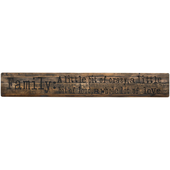 Family Large Rustic Wooden Message Plaque-hill Interiors-Poppy Stop
