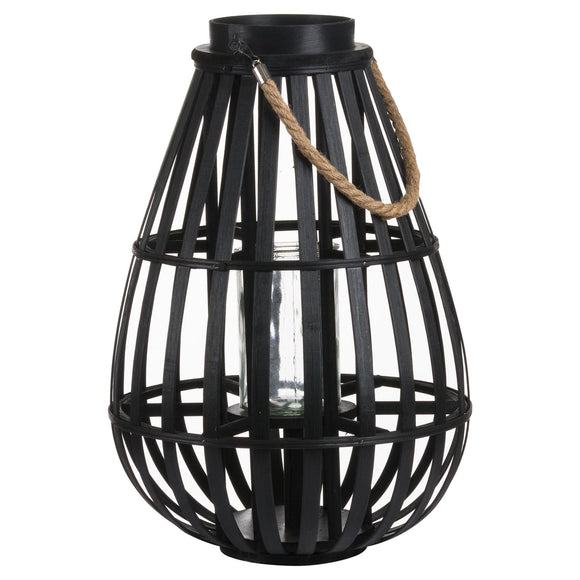 Domed Wicker Lantern With Rope Detail