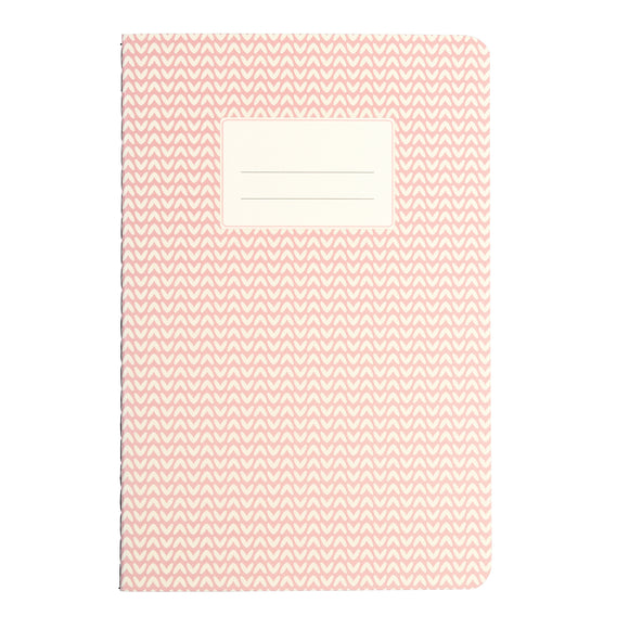 PINK ABSTRACT A5 NOTEBOOK-Poppy Stop-Poppy Stop