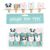 MIKO AND FRIENDS WOODEN PEGS (STRING OF 10)-Poppy Stop-Poppy Stop