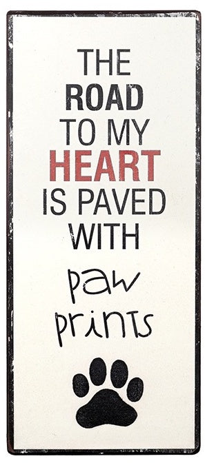 Paved with Paw Prints Sign-Poppy Stop-Poppy Stop