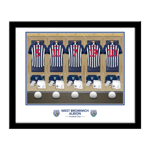 West Bromwich Albion FC Dressing Room Framed Print