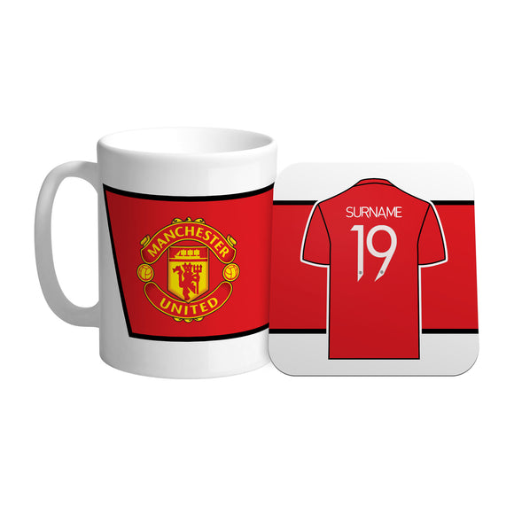 Manchester United FC Shirt Mug & Coaster Set