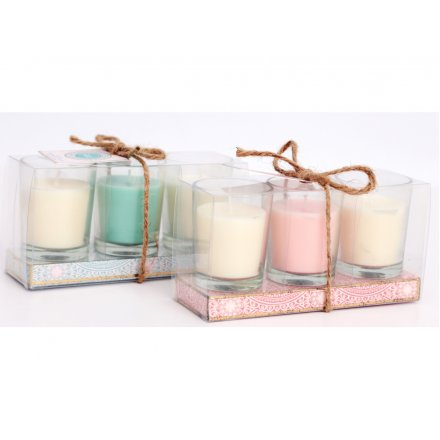 FESTIVAL LIFE VOTIVE CANDLE POT ASSORTMENT-Poppy Stop-Poppy Stop