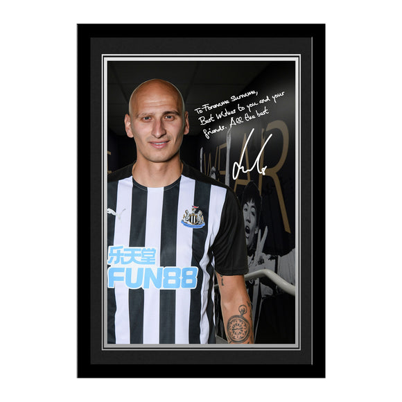 Newcastle United FC Shelvey Autograph Photo Framed