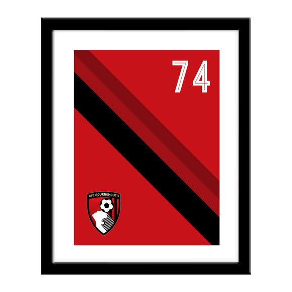 AFC Bournemouth Stripe Print
