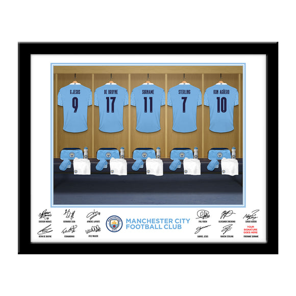 Manchester City FC Dressing Room Framed Print