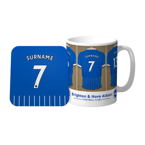 Brighton & Hove Albion FC Dressing Room Mug & Coaster Set