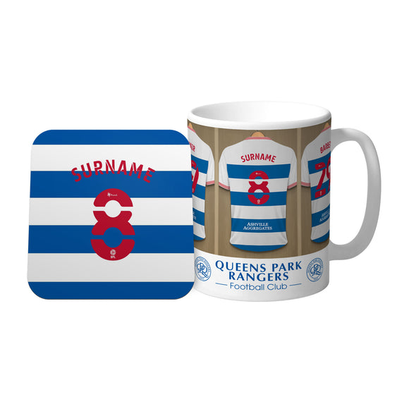 Queens Park Rangers FC Dressing Room Mug & Coaster Set