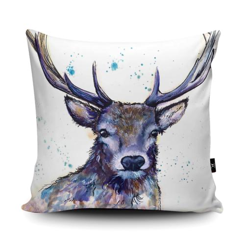 Splatter Hart Cushion | Katherine Williams | Wraptious-Poppy Stop-Poppy Stop