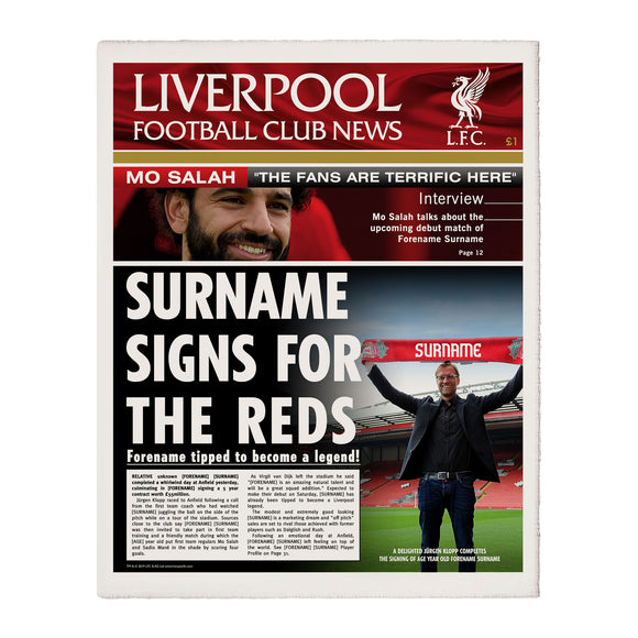 Liverpool FC News Single Page Print