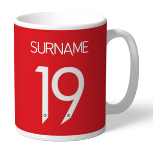 Manchester United FC Back Of Shirt Mug