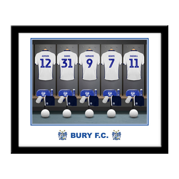 Bury FC Dressing Room Framed Print