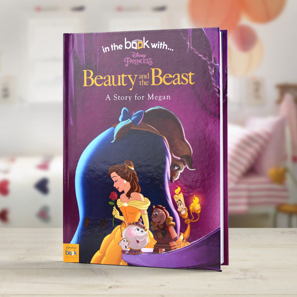 Personalised Disney Beauty & the Beast Story Book-Poppy Stop-Beauty & the Beast - Softback-Poppy Stop