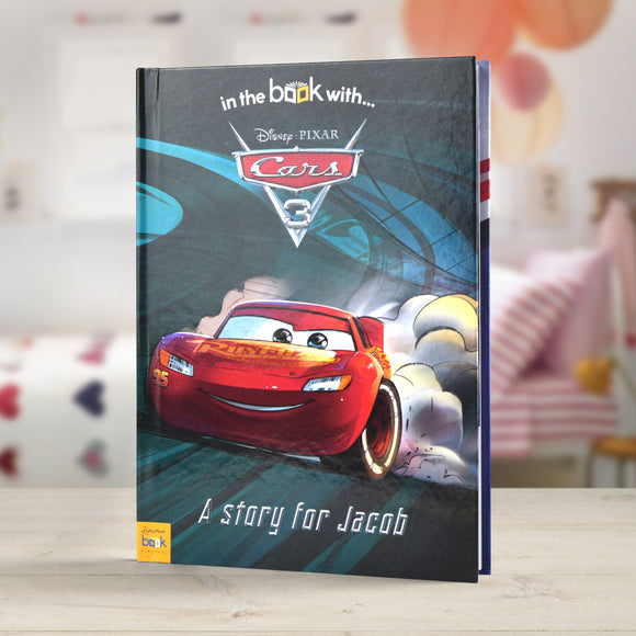 Personalised Disney Cars 3 Story Book-Poppy Stop-Cars 3 - Softback-Poppy Stop