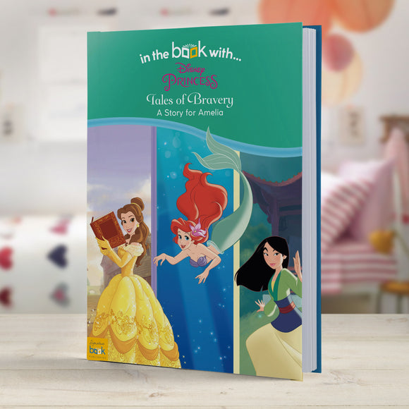 Personalised Disney Princess Tales of Bravery-Poppy Stop-Disney Princesses: Tales of Bravery - Softback-Poppy Stop