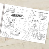 Alphabet World Personalised Colouring Book-Poppy Stop-Alphabet World Colouring Book A3-Poppy Stop