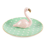 TROPICAL FLAMINGO TRINKET DISH-Poppy Stop-Poppy Stop