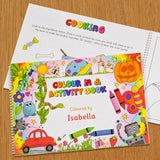 Personalised Colour In Activity Book-Poppy Stop-Colour In and Activity Book A3-Poppy Stop