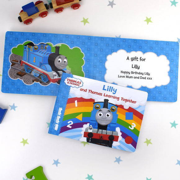 Personalised Me and Thomas Learning Together Board Book-Signature-Poppy Stop