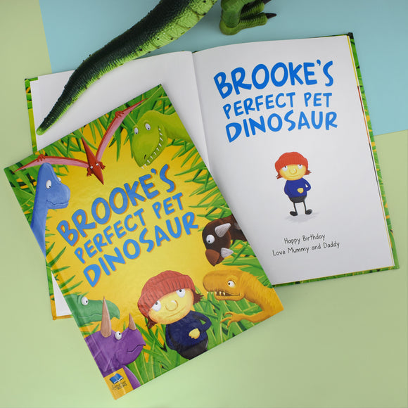 Personalised Pet Dinosaur Story Book-Poppy Stop-Personalised Pet Dinosaur Book - Hardback-Poppy Stop