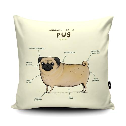 ANATOMY OF A PUG CUSHION | WRAPTIOUS | SOPHIE CORRIGAN-Poppy Stop-Poppy Stop
