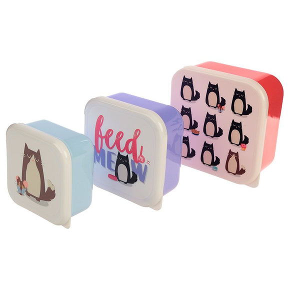 Set of 3 Lunch Boxes - Feline Fine Cat-Poppy Stop-Poppy Stop