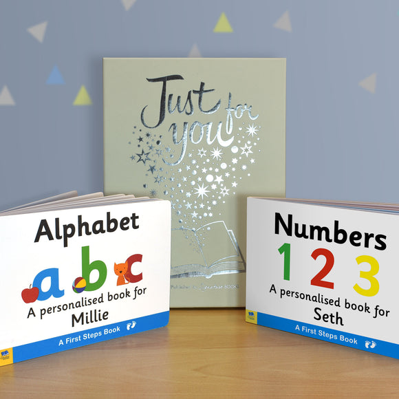 Alphabet & Numbers Board Book Gift Set-Signature-Poppy Stop