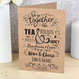 Personalised We Go Together Like... Card-Poppy Stop-Poppy Stop