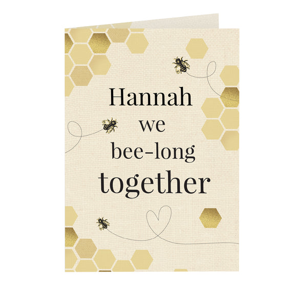 Personalised We Bee-Long Together Card-Poppy Stop-Poppy Stop