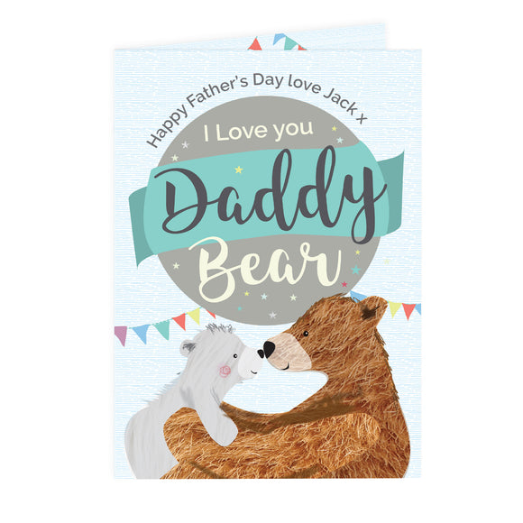 Personalised Daddy Bear Card-PMC-Poppy Stop
