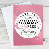 Personalised To The Moon & Back Pink Card-Poppy Stop-Poppy Stop