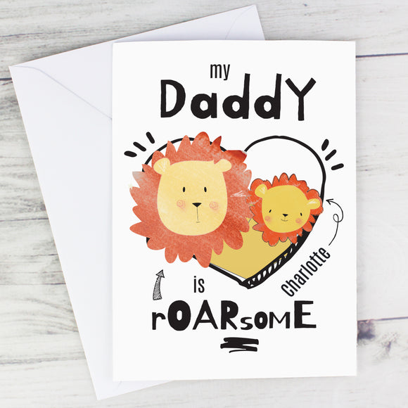 Personalised Roarsome Fathers Day Card