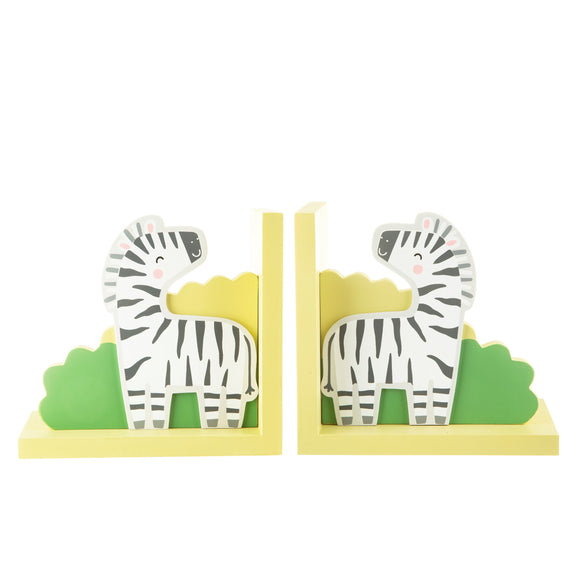 SAVANNAH SAFARI ZEBRA BOOKENDS-Poppy Stop-Poppy Stop