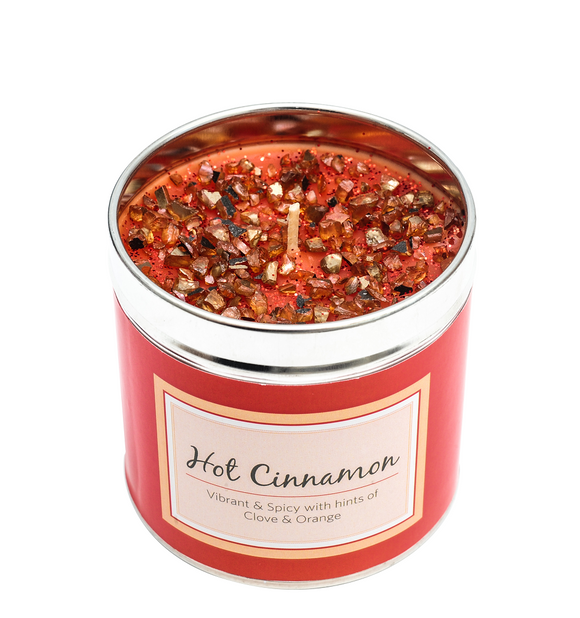 SCENTED CANDLE - HOT CINNAMON - HINTS OF CLOVE & ORNAGE-Poppy Stop-Poppy Stop