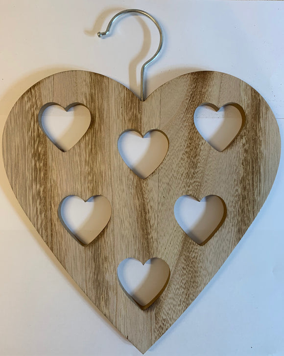 Scarf Holder - Wooden Heart-Poppy Stop-Poppy Stop