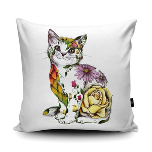 Rosie the Cat Cushion - Artwork by Kat Baxter - Wraptious-Poppy Stop-Poppy Stop