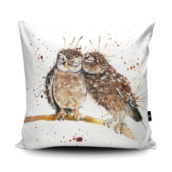 Splatter Love Birds Cushion - Artwork by Katherine Williams - Wraptious-Poppy Stop-Poppy Stop
