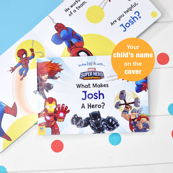 What Makes Me a Hero Personalised Marvel Board Book-Signature-Poppy Stop