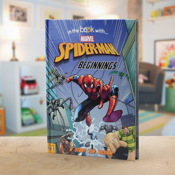 Spider-Man Beginnings Personalised Marvel Story Book-Poppy Stop-Spider-man Beginnings - Softback-Poppy Stop