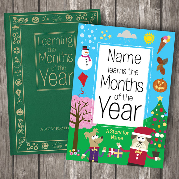 Months of the Year Personalised Book-Poppy Stop-Months of the year - Softback-Poppy Stop