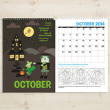 Personalised Months of the Year Activity Book-Poppy Stop-Activity Book Months of the Year A3-Poppy Stop